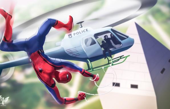 Picture Art, Marvel, Comics, Peter Parker, Spider Man, Spider Man Homecoming