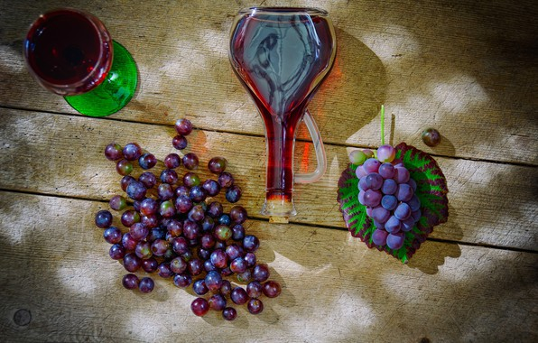 Picture wine, bottle, grapes