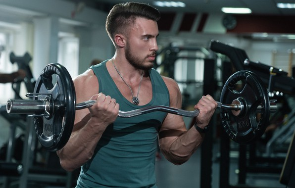 Picture power, male, rod, rocking, gym