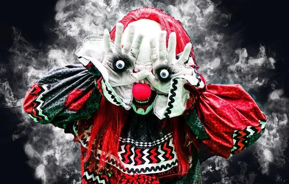 Picture clown, mask, Killer Clown