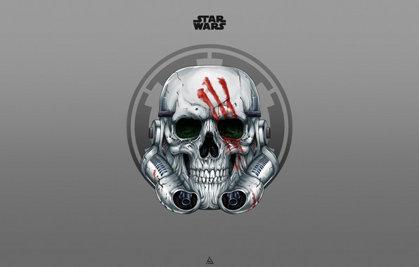 Picture Minimalism, Star Wars, Background, Art, Art, Sake, Skeleton, Attack, Stormtrooper, Stormtrooper, by Leo Tanguin, Leo ...