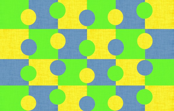 Picture circles, blue, yellow, bright, green, background, texture, geometry