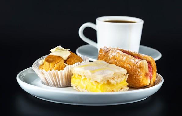 Picture tea, Cup, cake, cupcake