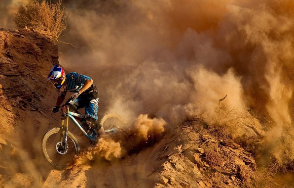 Picture Cycling, downhill, race, the descent from the mountain, velobike, Downhill