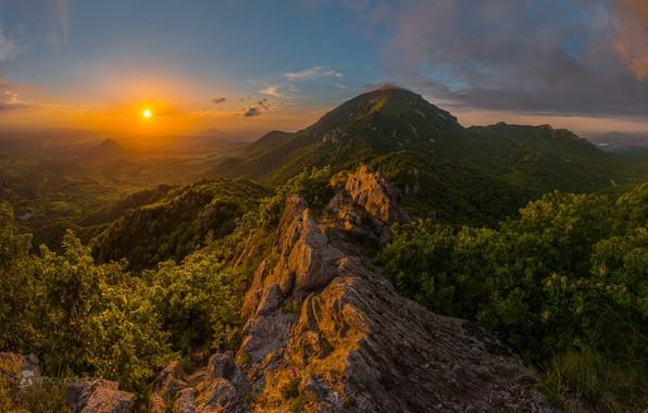 Picture sunset, mountains, view, Beshtau, Fedor Lashkov