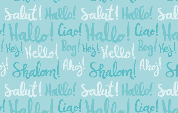 Picture labels, background, blue, texture, pattern, hello