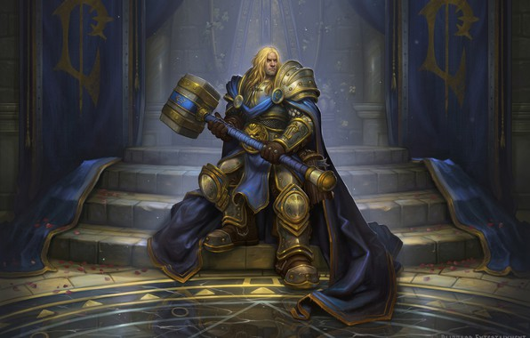 Picture Warcraft, Blizzard, Paladin, Arthas, Illustration, Eric Braddock, Characters, Game Art, by Eric Braddock, Crown Prince ...