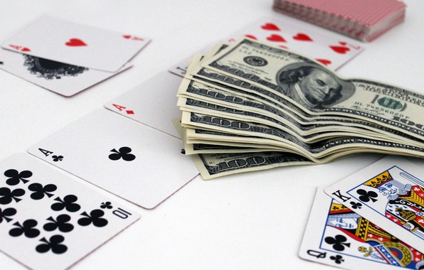 Picture card, money, 2 table