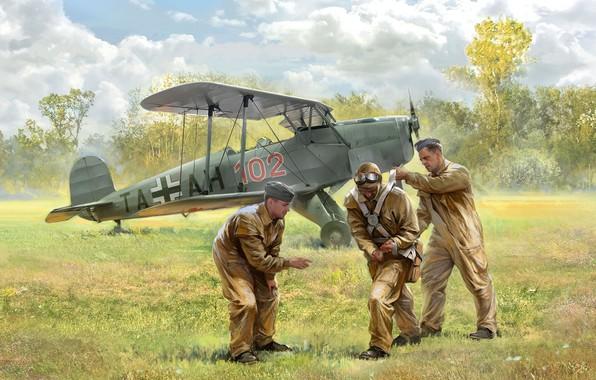 Picture training, Luftwaffe, Pilot, 131 this, Bucker 131
