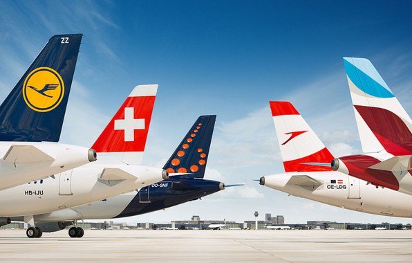 Picture The plane, Aircraft, Airport, Aviation, Airlines, Lufthansa, Airbus, Austrian, Brussels, Airbus A320, Swiss, Company, Company, …