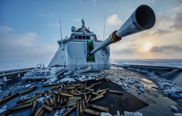 Picture frost, sleeve, icebreaker, the coast guard, NoCGV Svalbard, Svalbard, patrol ship, The Barents sea, Norwegian …
