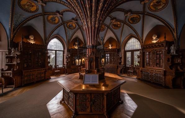 Picture Germany, library, Germany, Marienburg Castle, Marienburg Castle