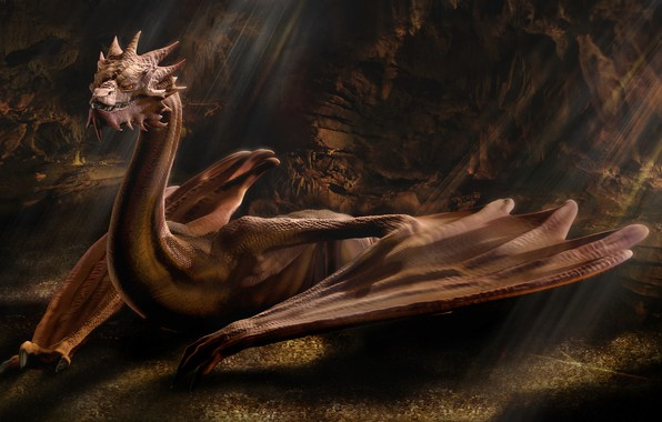 Picture Dragon, The Hobbit, Smaug, Winged, Dragon Of Middle-Earth, Smaug The Golden, Fire-breathing