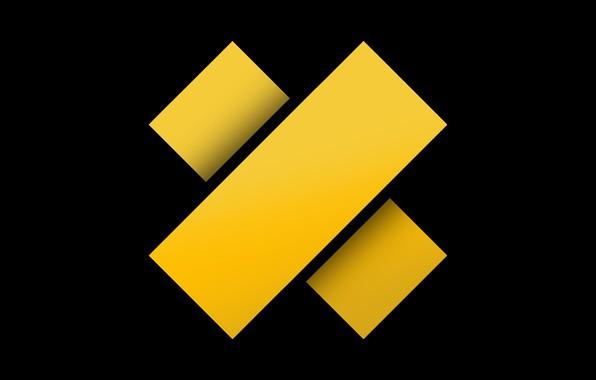 Picture yellow, black, strip, logo, logo, black, yellow, rap, rap, fon, stripe, vsrap