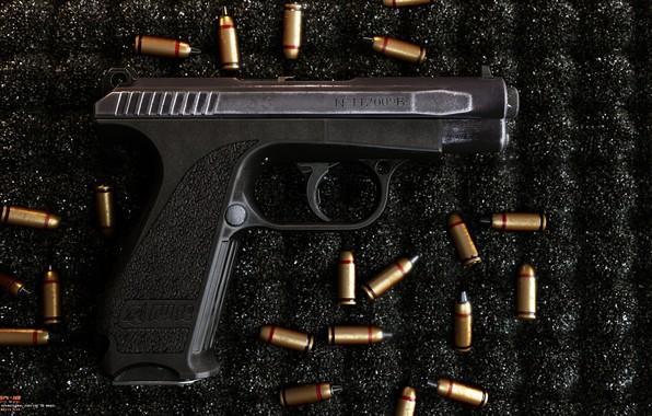 Picture gun, weapons, gun, pistol, weapon, render, render, 3d art, rendering, gsh 18, GSH 18