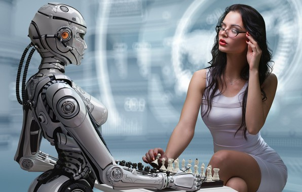Picture sexy, cyborg, cyborg, sexy brunette, bodycon dress, gorgeous figure, charming girl, robotics, the game of …
