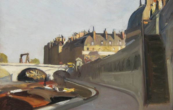 Picture Edward Hopper, 1909, The Dock of the, Grands Augustins