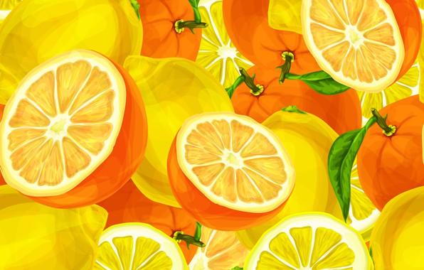 Picture background, oranges, texture, citrus, lemons, background, lemons, oranges