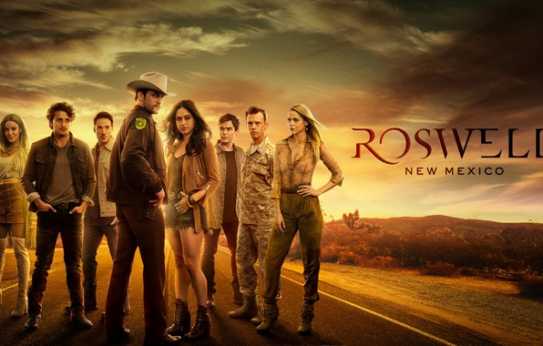 Picture road, look, the series, actors, New Mexico, Movies, New Mexico, Roswell, Roswell