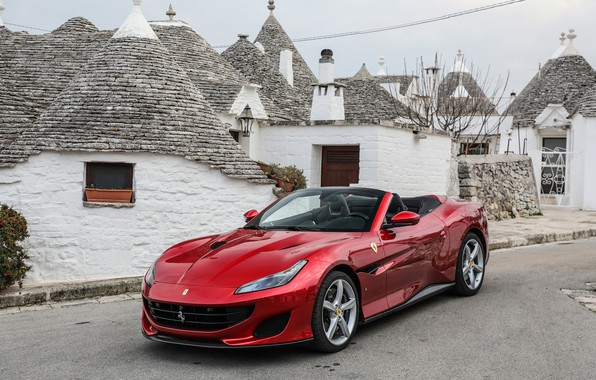 Photo wallpaper Ferrari, convertible, Portofino