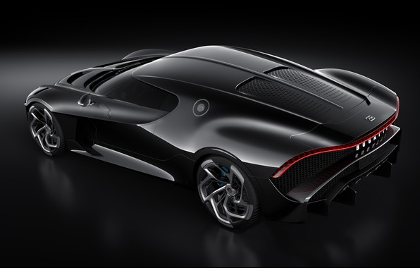 Picture machine, Bugatti, lantern, drives, stylish, hypercar, The Black Car