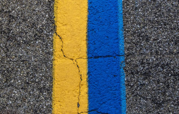 Photo wallpaper road, color, line