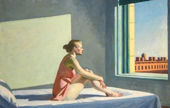 Picture Edward Hopper, Morning Sun, 1952