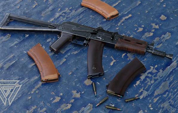 Picture rendering, weapons, tuning, Machine, Gun, weapon, render, Kalashnikov, render, 3d art, AKM, Assault rifle, Russian, …