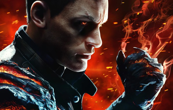 Picture fire, the game, smoke, the demon, demon, fire, smoke, fist, the executioner, fist, Desmond, the …