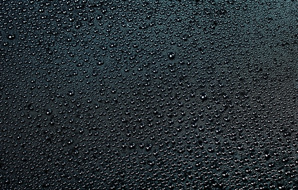 Picture water, drops, surface, black
