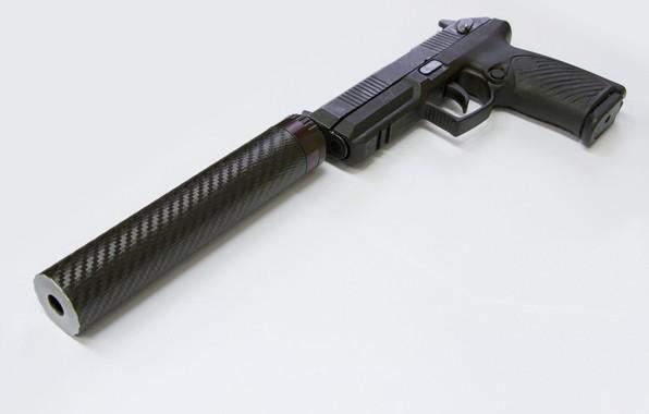 """Picture Gun, Muffler, New pistol complex """"Boa"""""""