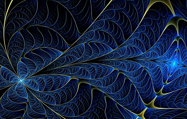 Picture wave, line, abstraction, background, Wallpaper, fractals, figure, curves, screensaver on your desktop, acrylic paint, blue …