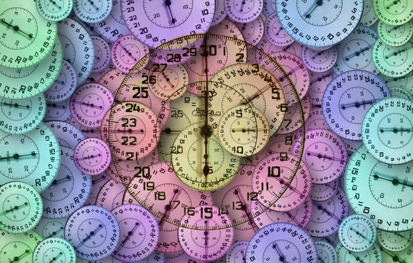 Picture time, arrows, dial, stopwatch
