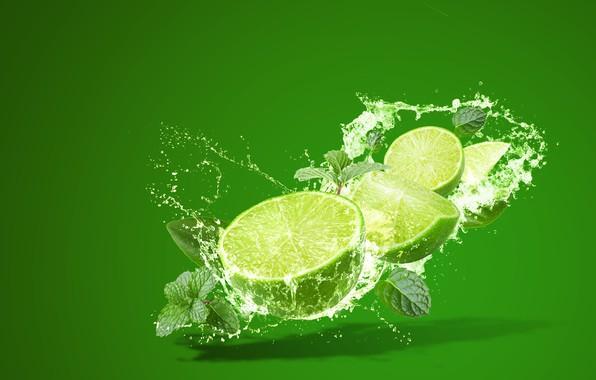 Picture squirt, splash, lime, citrus, mint, lemonade, lemonade