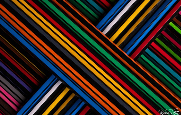 Picture macro, pencils, colorful, colored pencils