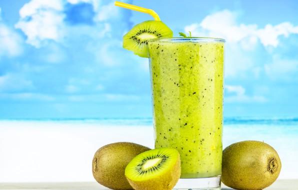 Picture glass, kiwi, drink, fresh, kiwi, Drink, smoothie, smoothies