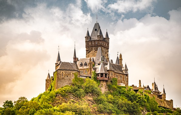 Picture castle, Germany, Cochem, Cochem Castle
