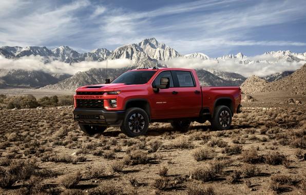 Picture desert, Chevrolet, pickup, Silverado, 2020, 2500 Heavy Duty