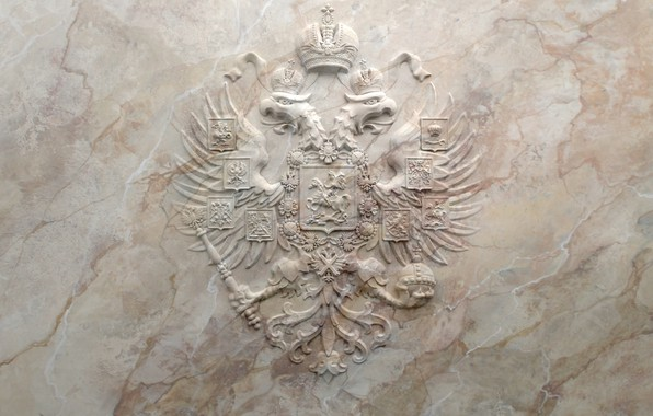 Picture marble, Russia, coat of arms