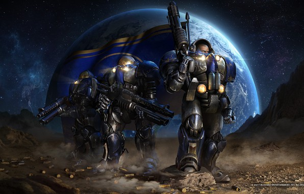 Picture victory, the suit, starcraft, rifle, strategy, Marines, Terran, remastered, terrans, marrines