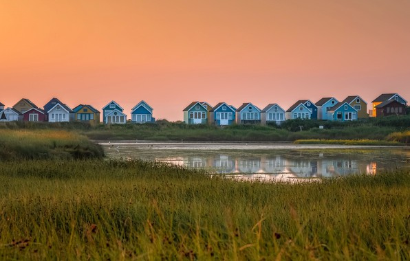 Picture England, Mudeford, Beach Huts, Christchurch District