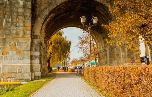 Picture road, the city, photo, arch, Slovenia, Maribor