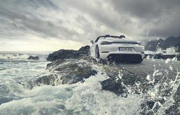 Picture machine, water, Porsche, Cayman, Spyder, 718