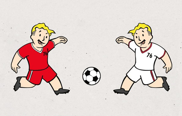 Photo wallpaper Minimalism, The ball, Football, Fallout, Art, Bethesda Softworks, Bethesda, Bethesda Game Studios, Vault Boy, Vault ...