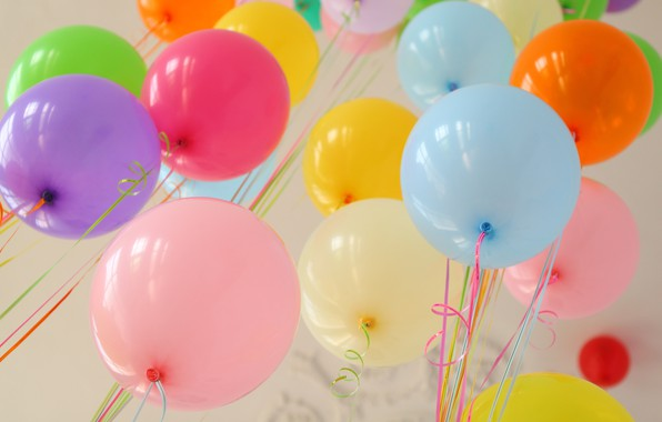 Picture summer, happiness, balloons, stay, colorful, summer, happy, balloon