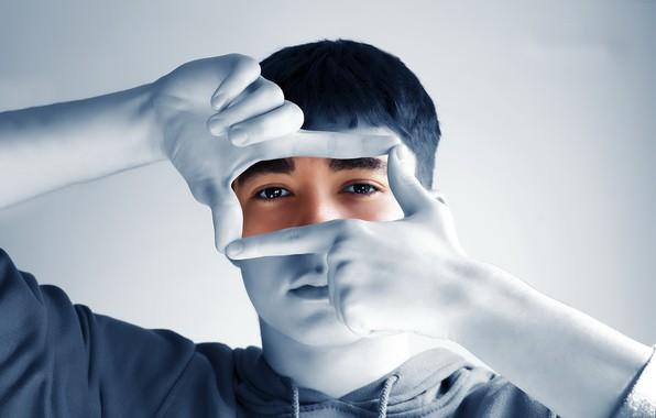 Picture look, portrait, hands