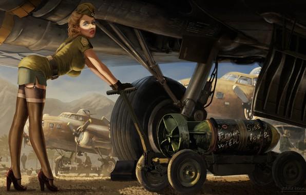 Picture Girl, Figure, The plane, Art, Art, Download, Bomb, Sissy, Eddie Bennun, by Eddie Bennun, From …