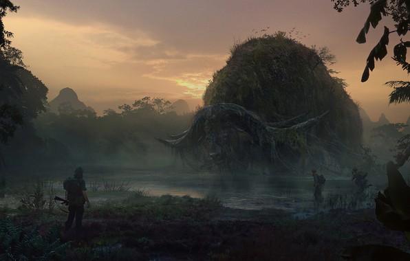 Picture Concept art, Kong: Skull Island, Kong: skull Island, Valentin Petrov, Skerry Buffalo, Sker Buffalo