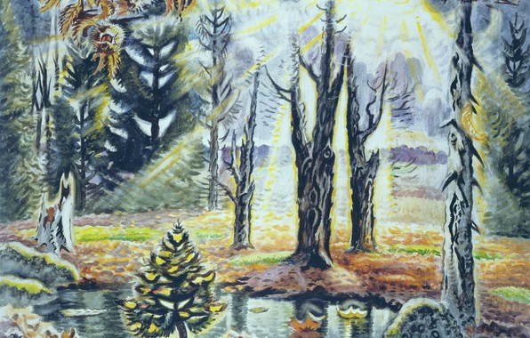 Picture Charles Ephraim Burchfield, 1938–63, October in the Woods