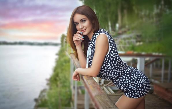 Picture look, girl, pose, smile, Konstantin Starikov